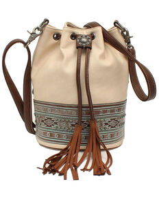 Blazin Roxx Women's Aztec Bucket Bag , White, hi-res