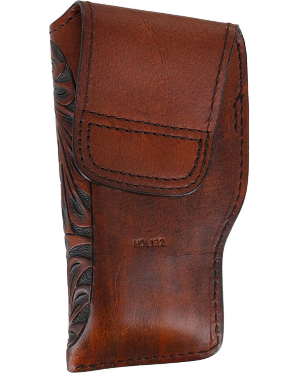 3D Brown Floral Tooled Glock Holster, Brown, hi-res