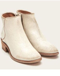 Frye Women's Carson Piping Fashion Booties - Round Toe, Off White, hi-res