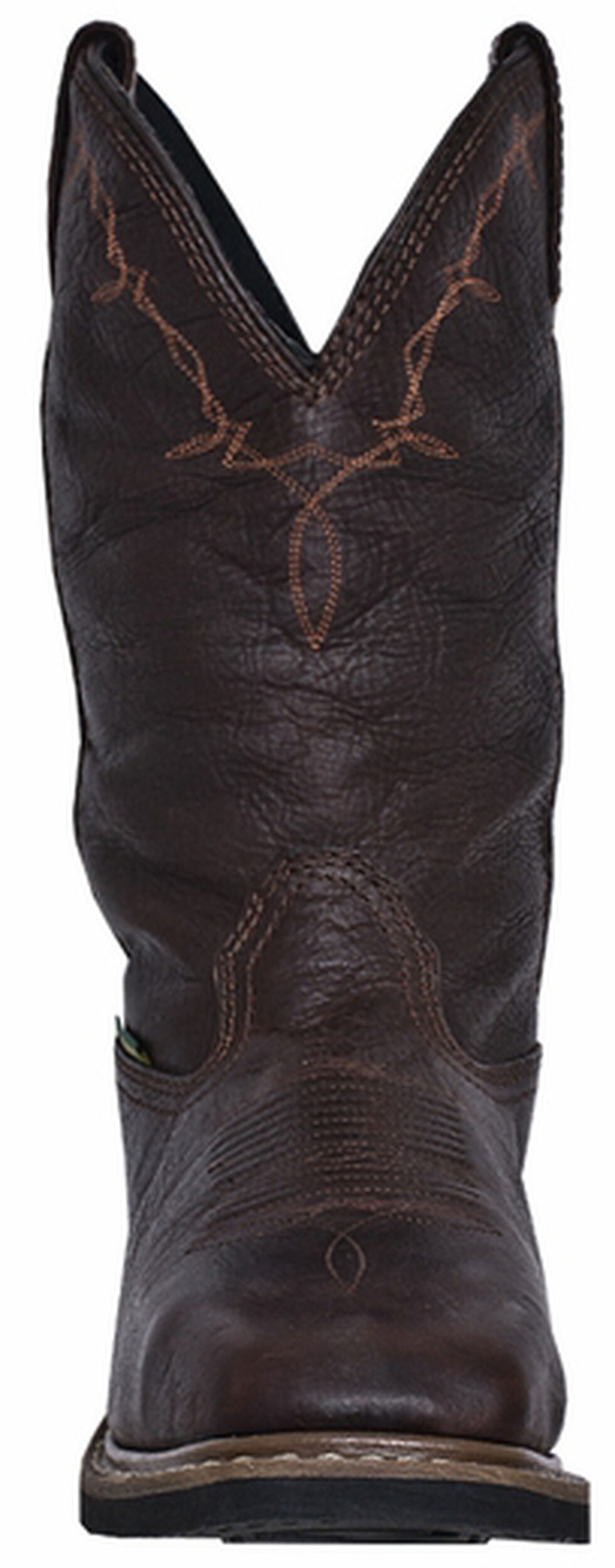 John Deere Men's Leather Western Work Boots - Steel Toe, Copper, hi-res