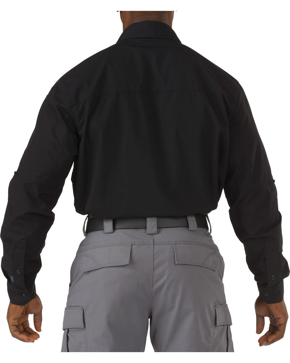 5.11 Tactical Stryke Long Sleeve Shirt - Tall Sizes (2XT - 5XT), Black, hi-res