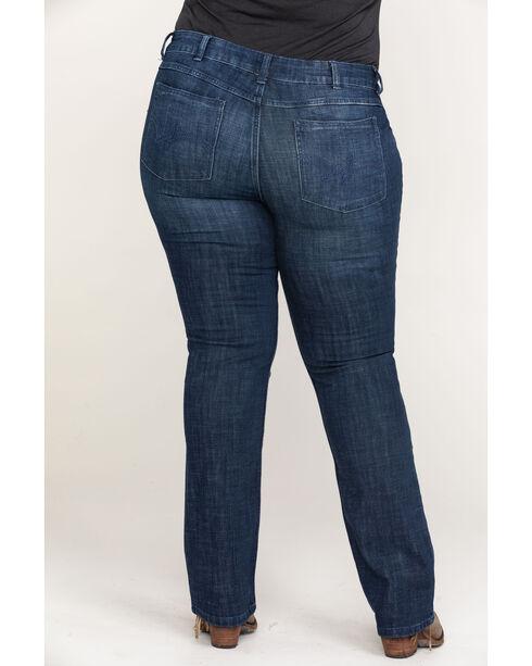 Wrangler Women's Indigo Mid-Rise Straight Leg Jeans - Plus Size , Indigo, hi-res