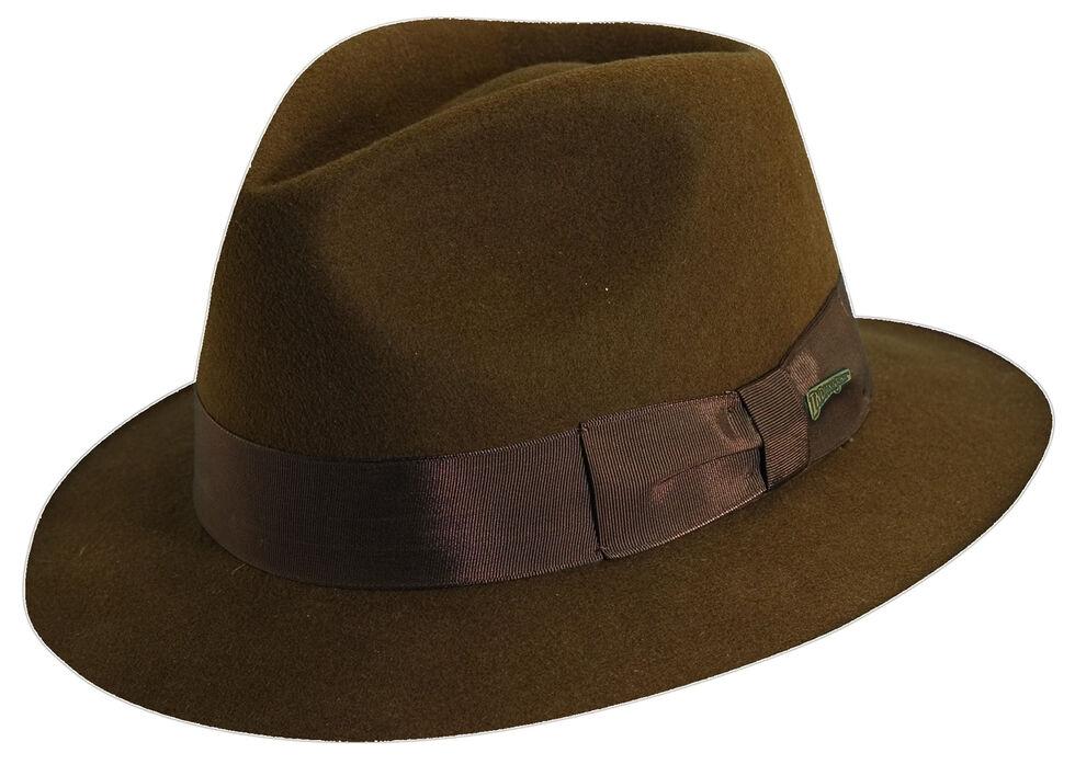 4f10b88c57044 Indiana Jones Pinch Front Wool Felt Fedora Hat