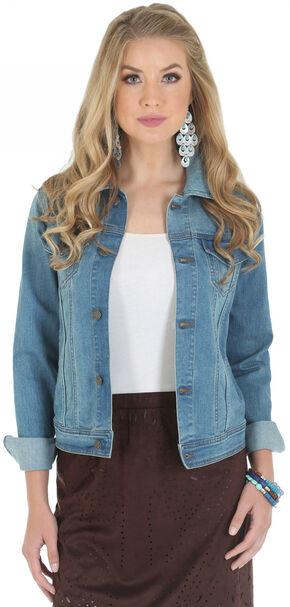 Wrangler Women's Premium Denim Jacket, Stonewash, hi-res