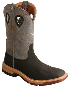 Twisted X Men's Brown CellStretch Western Work Boots - Alloy Toe, Brown, hi-res