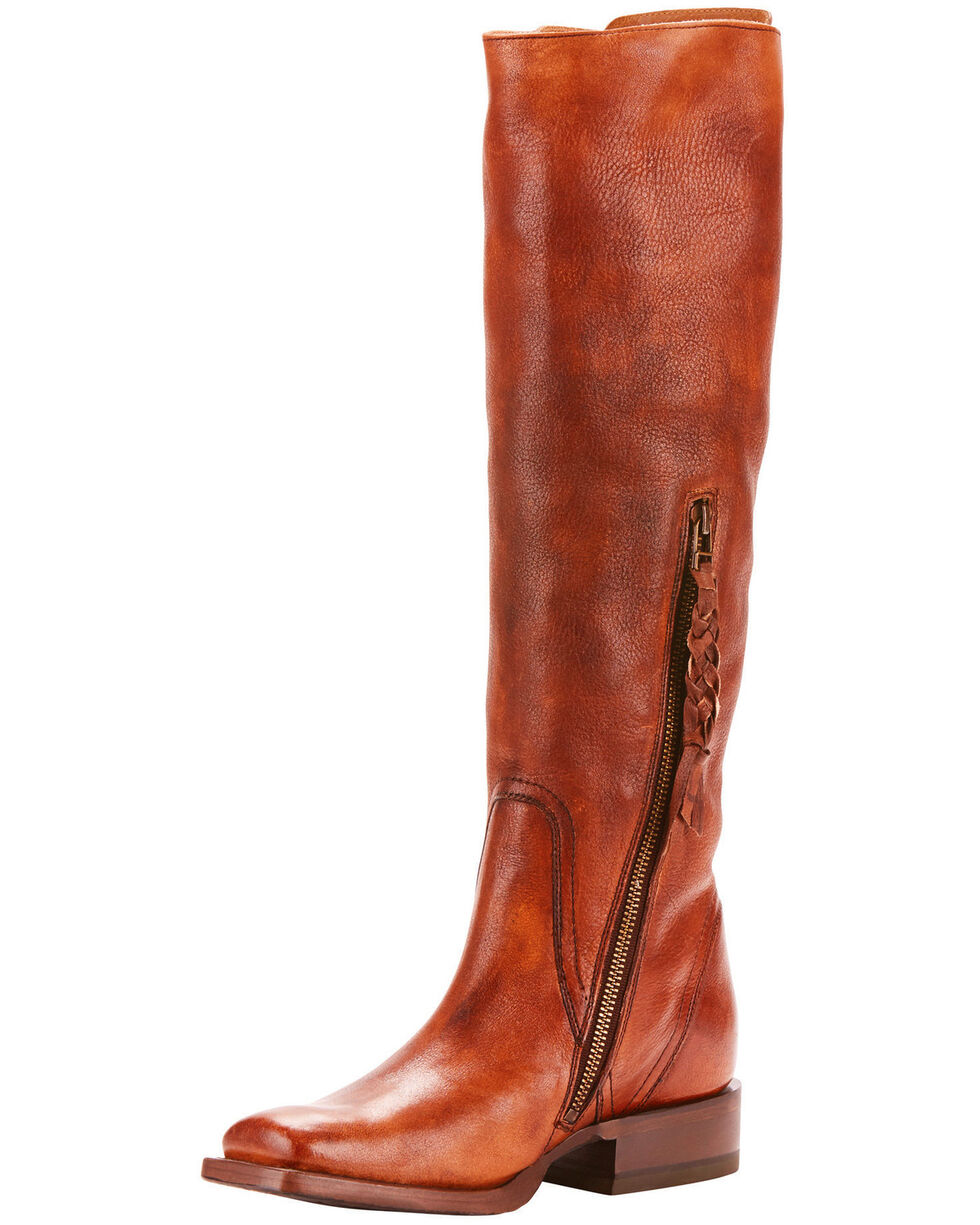Ariat Women's Sawyer Lace Up Western Fashion Boots - Square Toe, Tan, hi-res
