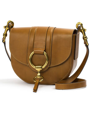 Frye Women's Cognac Ilana Harness Small Saddle Bag , Cognac, hi-res