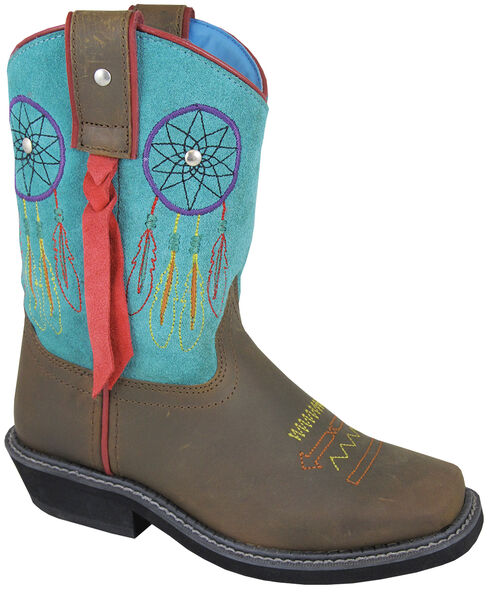 Smoky Mountain Youth Girls' Dreamcatcher Western Boots - Square Toe, , hi-res
