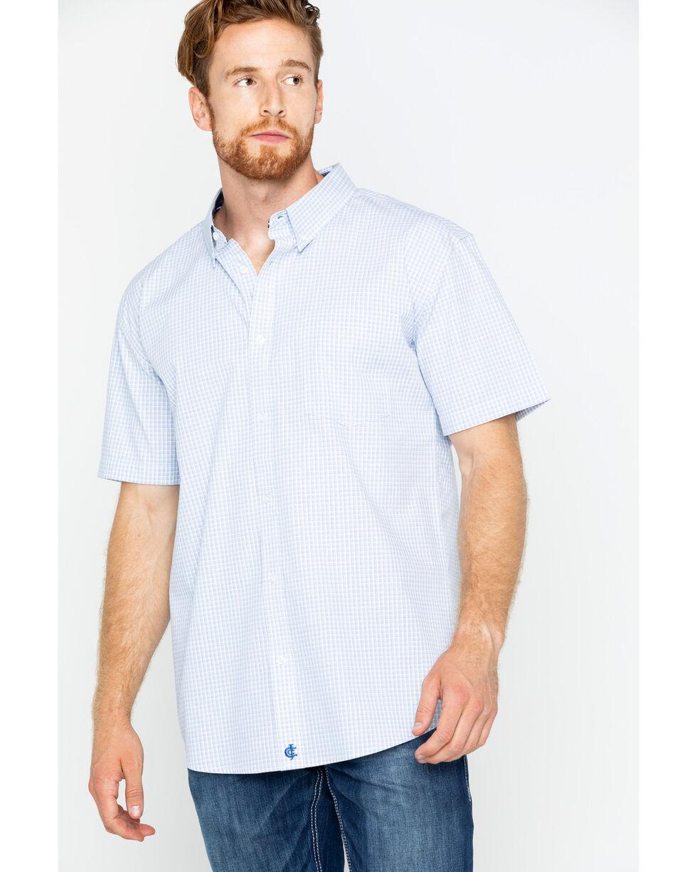 Cody James Men's Flint Short Sleeve Button Down Shirt, Grey, hi-res