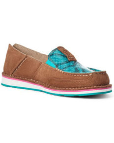 Ariat Women's New Earth Cruiser Shoes - Moc Toe, Brown, hi-res