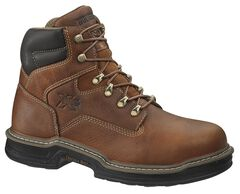 """Wolverine 6"""" Raider Lace-Up Work Boots - Steel Toe, Brown, hi-res"""