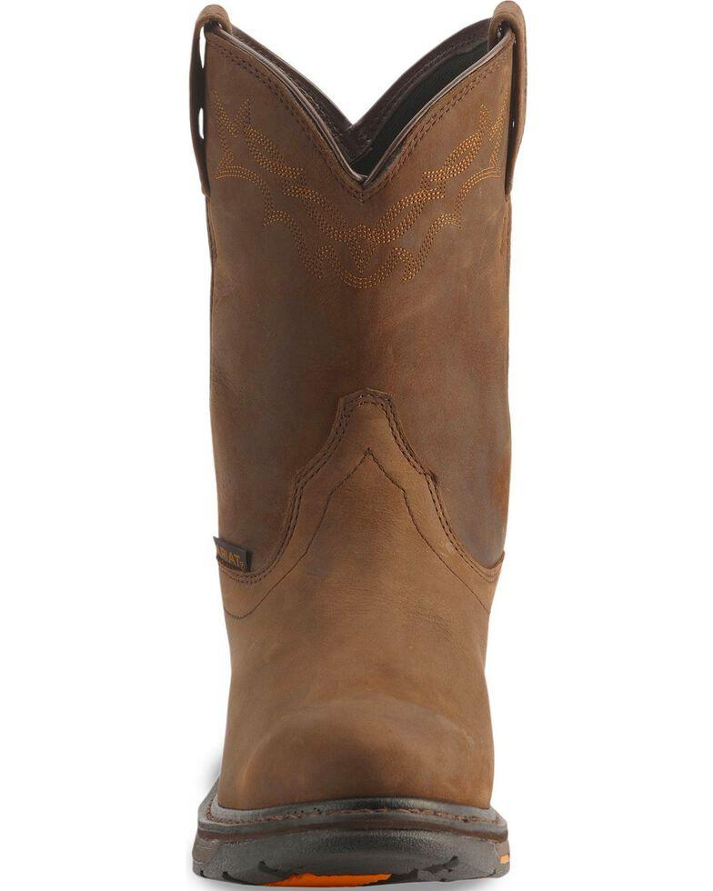 Ariat H2O Workhog Western Work Boots - Soft Toe, Distressed, hi-res