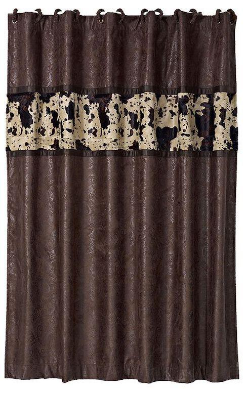 Caldwell Cowhide Shower Curtain, Multi, hi-res