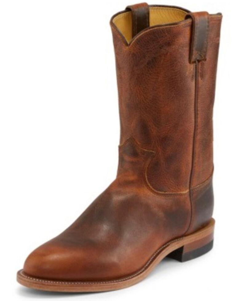 Justin Men's Brock Butterscotch Western Boots - Medium Toe, Tan, hi-res