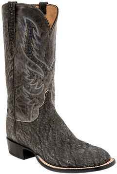 Lucchese Men's Cade Elephant Horseman Boots - Square Toe , Grey, hi-res
