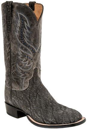 Lucchese Men's Handmade Cade Elephant Horseman Boots - Square Toe , Grey, hi-res