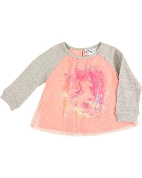 Shyanne Toddler Girls' Horse Glitter Tulle Top , Pink, hi-res
