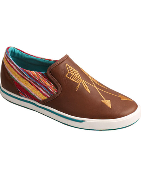 """Twisted X Women's """"Be Brave"""" Casual Shoe - Round Toe, Brown, hi-res"""