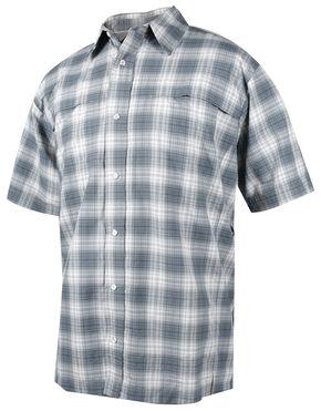 Tru-Spec Men's Grey Plaid 24-7 Cool Camp Shirt , Grey, hi-res