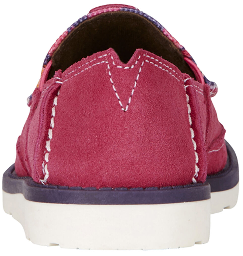 Ariat Youth Girl's Pink Flower Print Cruiser Shoes - Moc Toe, Pink, hi-res