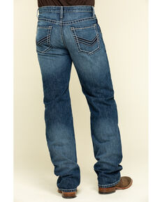 Cinch Men's Grant Dark Rigid Relaxed Bootcut Jeans , Indigo, hi-res