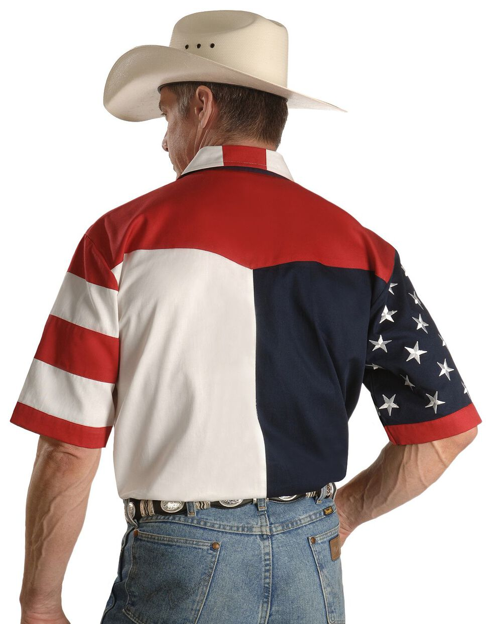 Rangewear by Scully USA Flag Western Shirt, Multi, hi-res