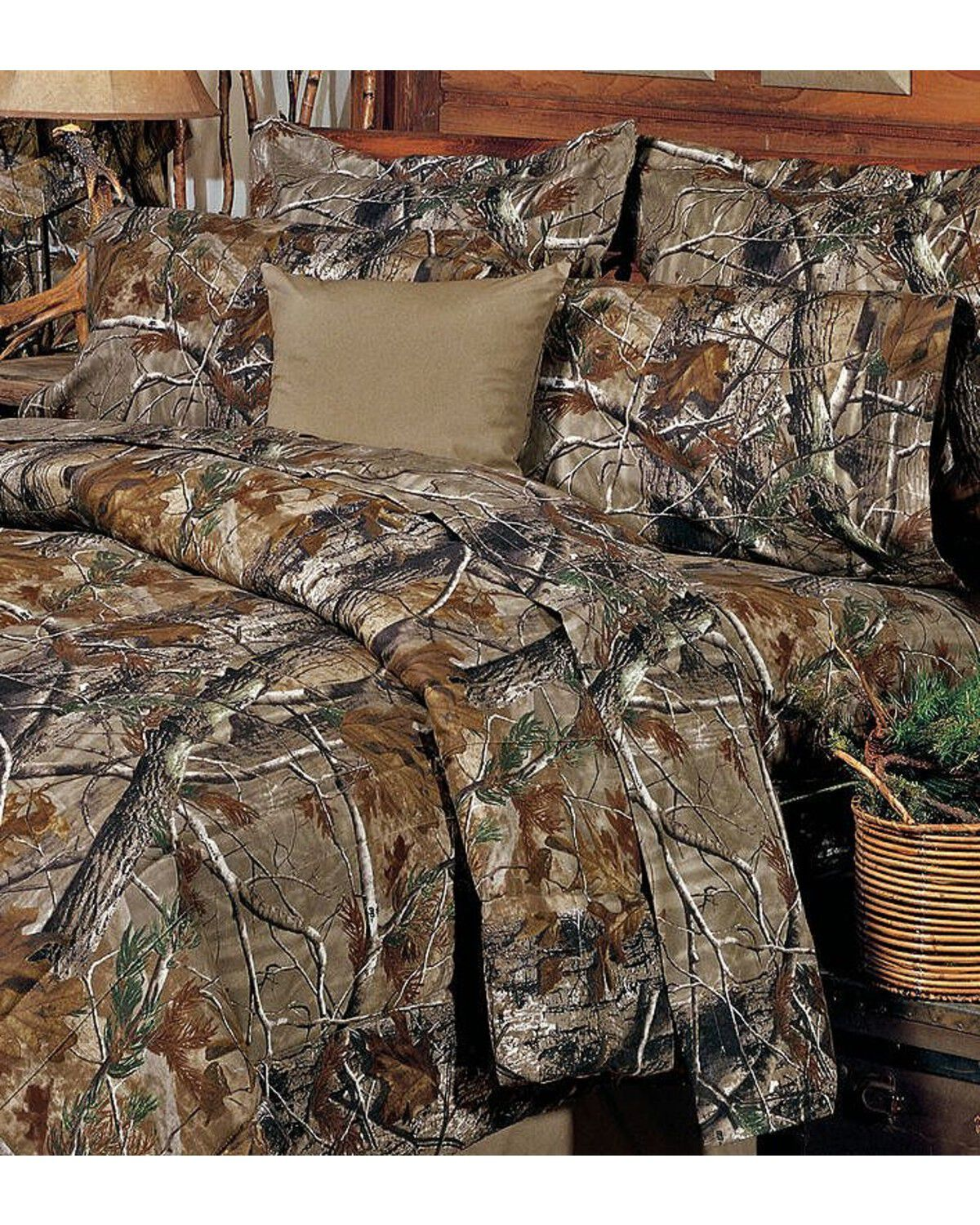 Realtree Camo Twin Sheet Set, Camouflage, Hi Res