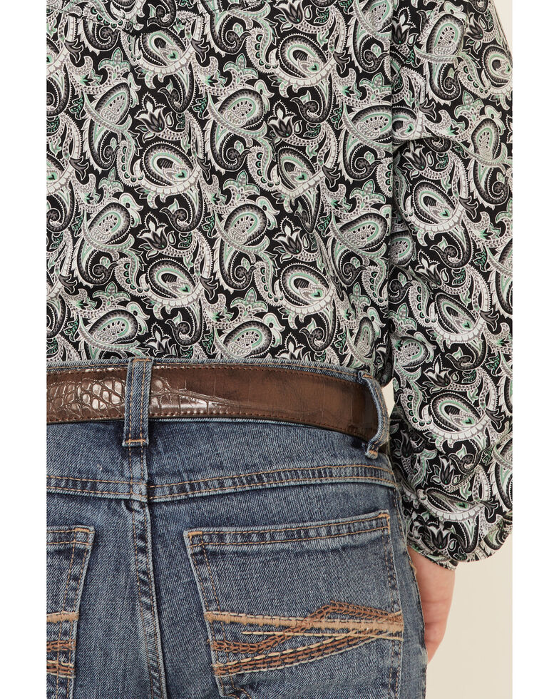 Wrangler 20X Boys' 8-16 Pickett Vintage Stretch Slim Bootcut Jeans , Blue, hi-res