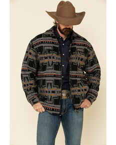 Outback Trading Co. Men's Black Aztec Koda Jacket , Black, hi-res