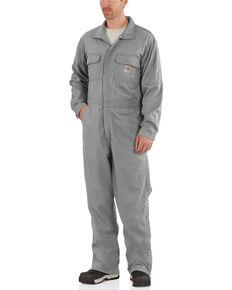 Carhartt Men's Navy Flame-Resistant Deluxe Coveralls, Grey, hi-res