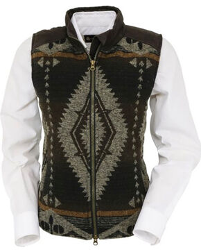 Outback Trading Co. Women's Brown Aztec Maybelle Vest , Brown, hi-res