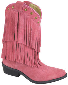 Smoky Mountain Youth Girls' Wisteria Western Boots - Medium Toe, Pink, hi-res