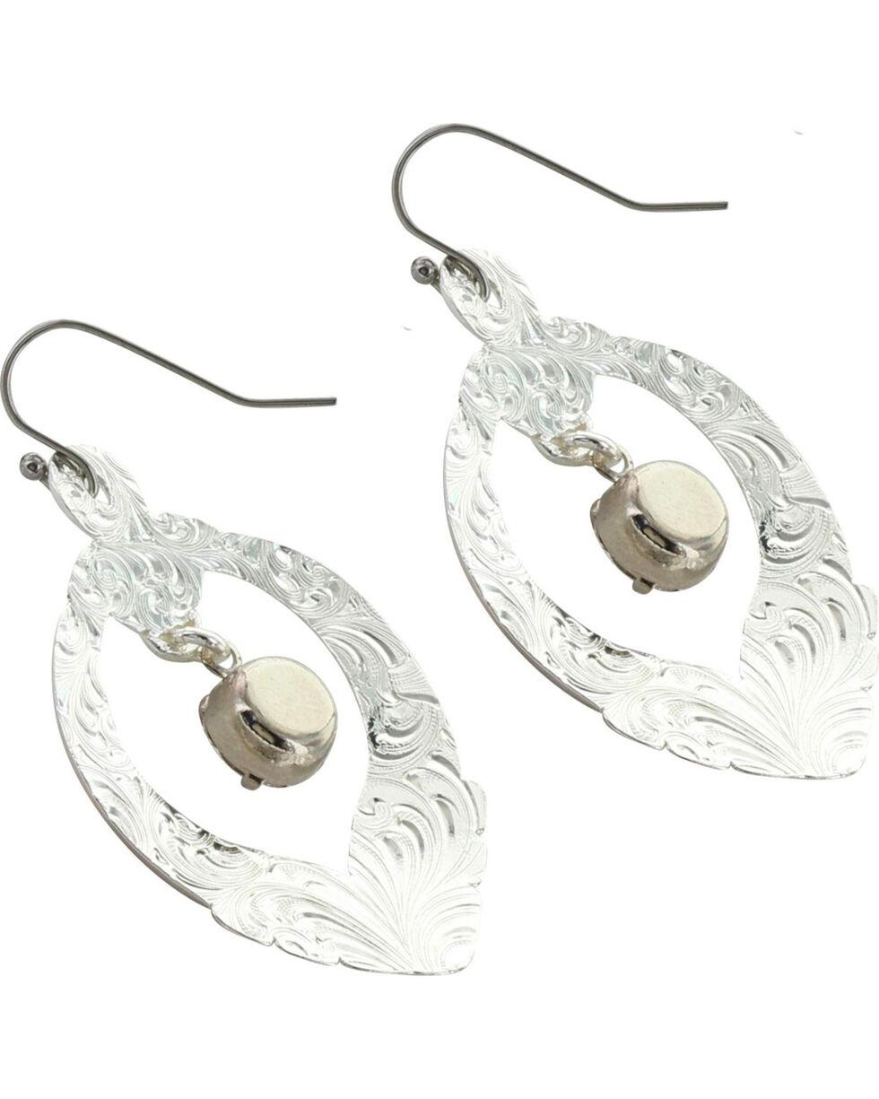 Montana Silversmiths Women's Two Tone Scrolling Basket Earrings, Silver, hi-res