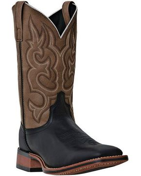 Laredo Basic Stockman Cowboy Boots - Square Toe, Black, hi-res