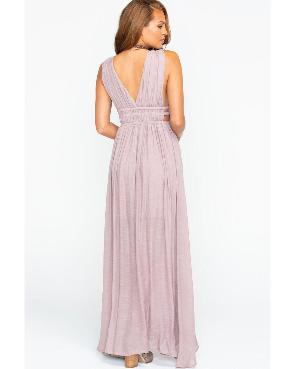 Polagram Women's Blush Sleeveless Drapey Dress , Light Pink, hi-res