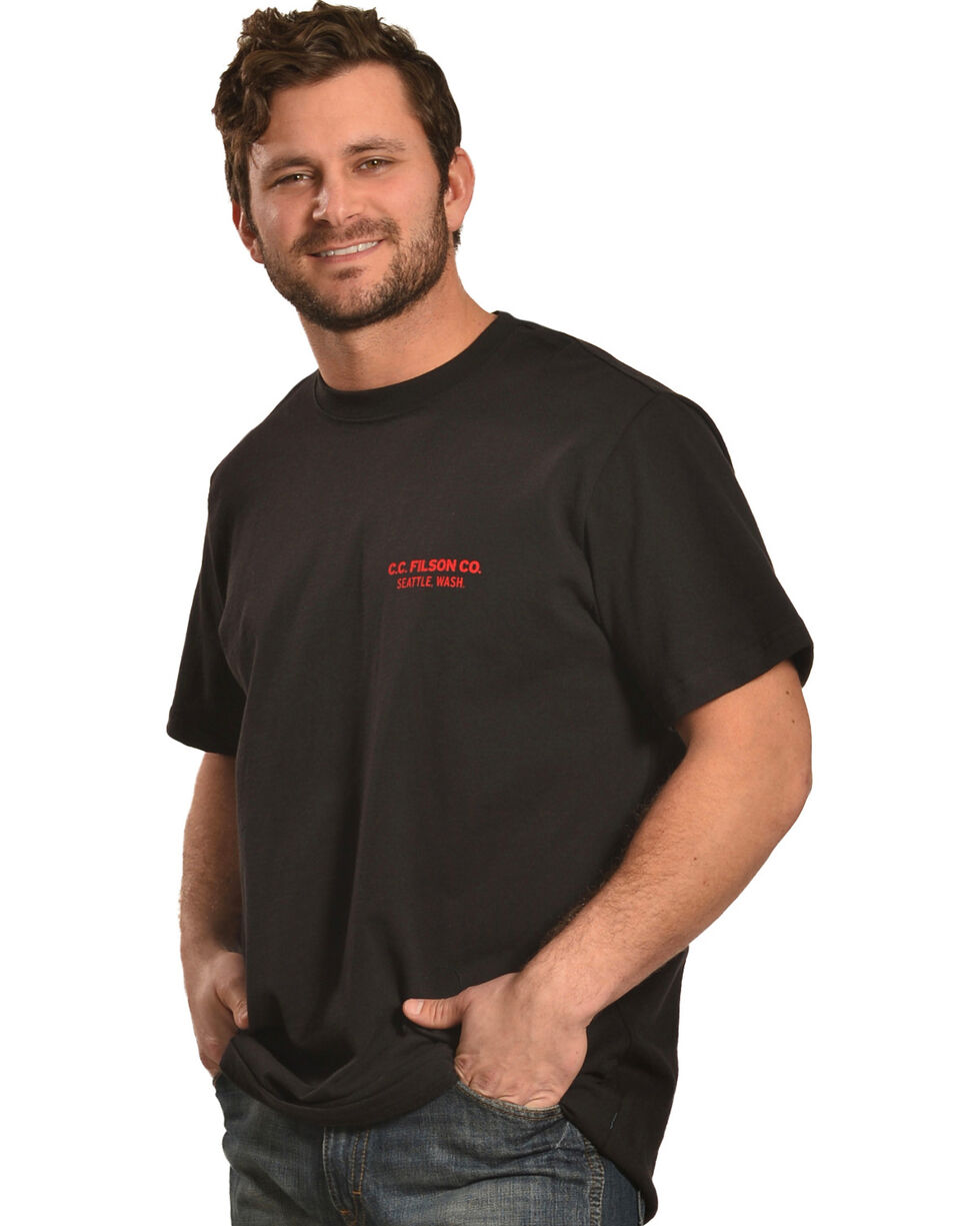 Filson Men's Alaska Outfitter Graphic T-Shirt , Black, hi-res