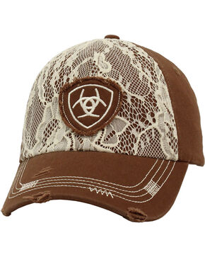Ariat Women's Lace Ballcap, Brown, hi-res