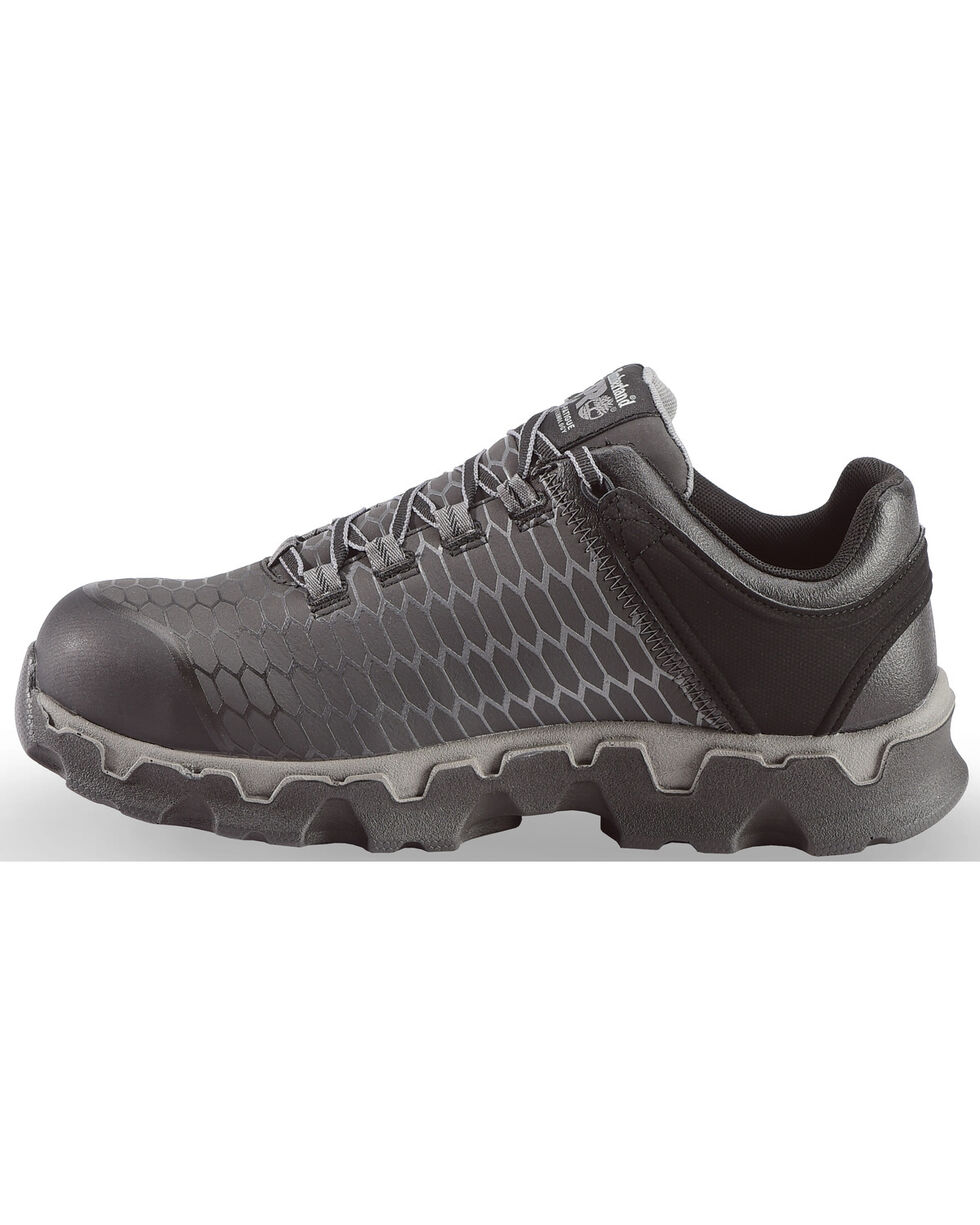 Timberland Men's Black Powertrain Sport EH Work Shoes - Alloy Toe , Black, hi-res