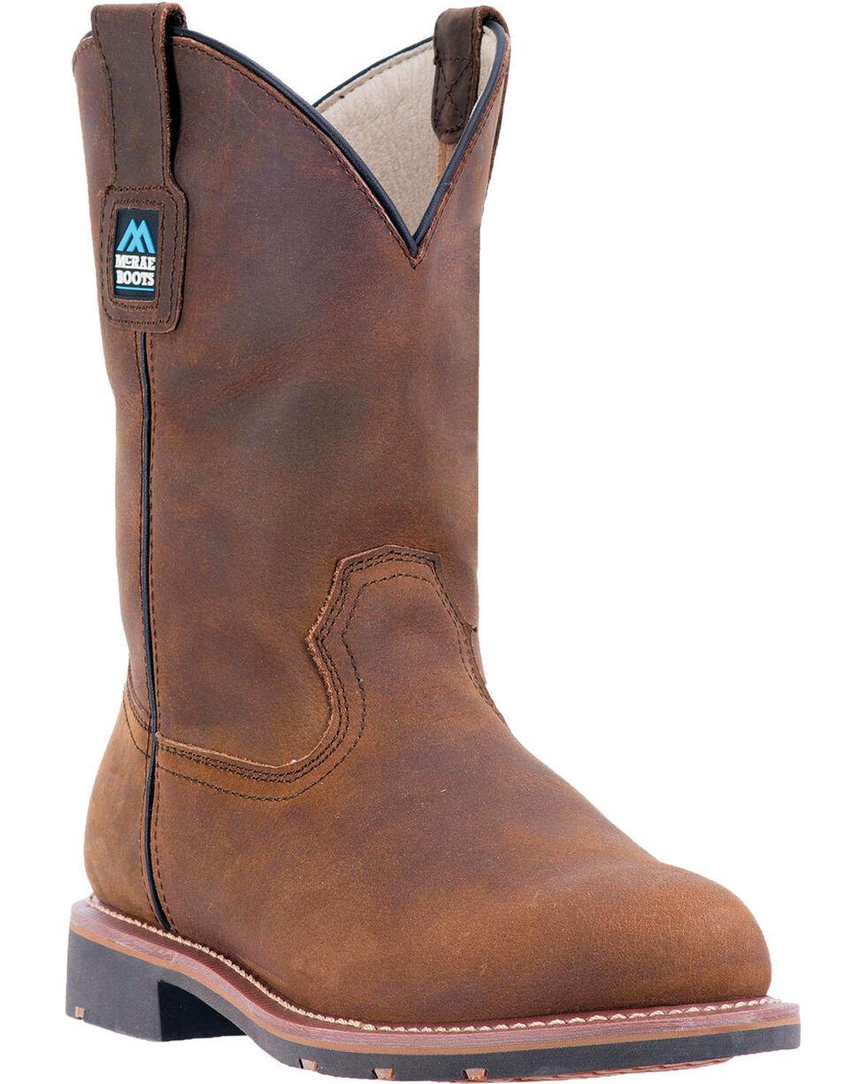 """McRae Men's 11"""" Electrical Hazard Pull On Work Boot - Steel Toe, Brown, hi-res"""