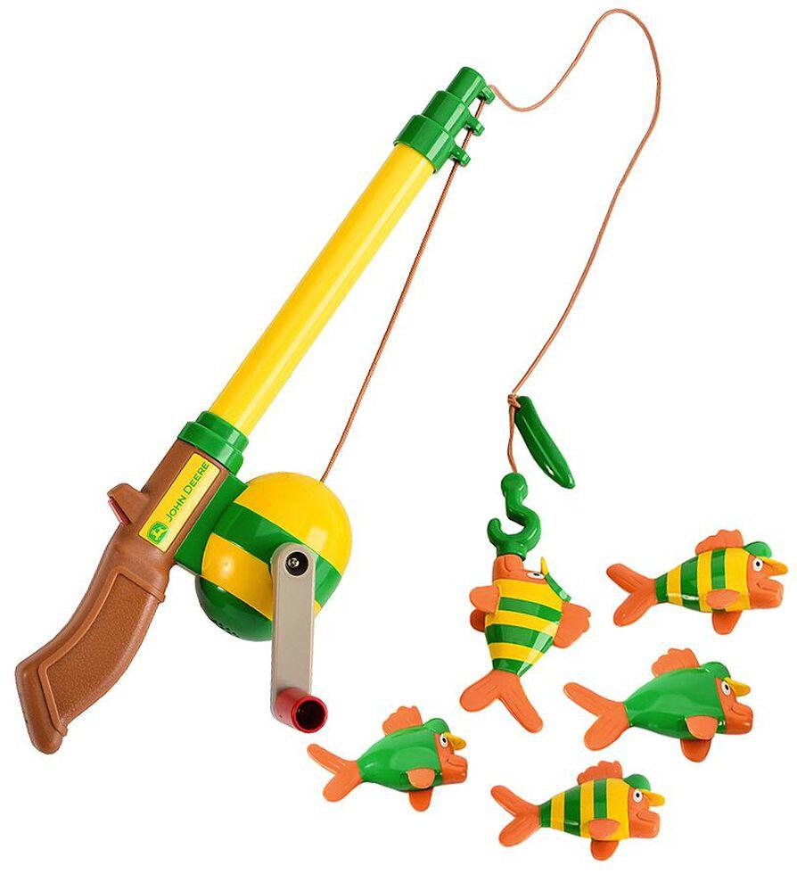 John Deere Electronic Sounds Fishing Rod Toy Set, Green, hi-res