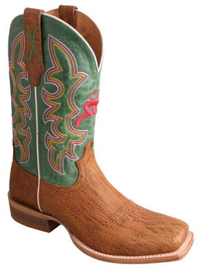 Twisted X Hooey Suntan Cowboy Boots - Square Toe, Suntan, hi-res