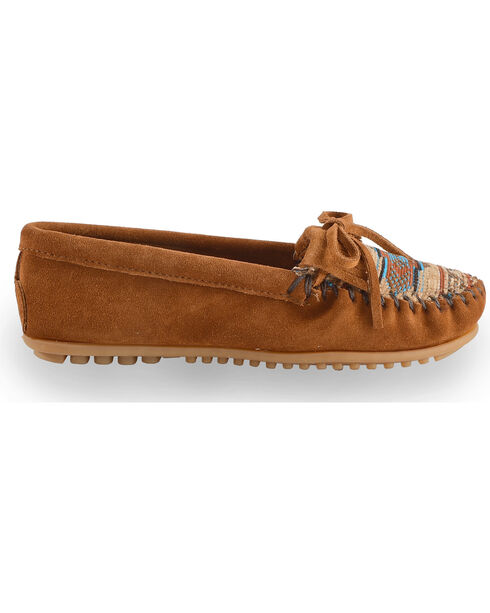 Minnetonka El Paso Woven Southwestern Moccasins, Brown, hi-res