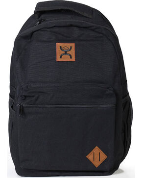 HOOey Logo Solid Backpack, Black, hi-res