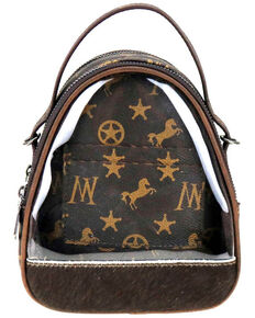 Montana West Women's Signature Monogram Mini Bag, Coffee, hi-res