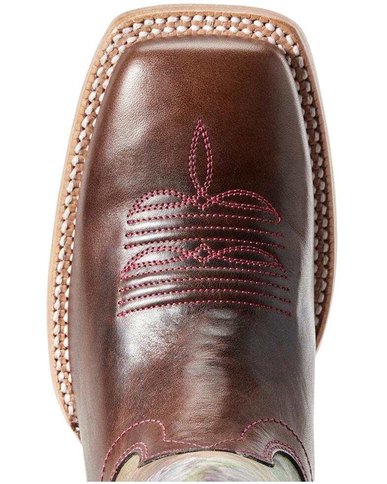 Ariat Women's Ceramic Fonda Western Boots - Wide Square Toe, Brown, hi-res