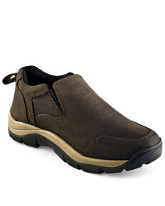 Old West Men's Casual Work Shoes - Soft Toe, Distressed Brown, hi-res