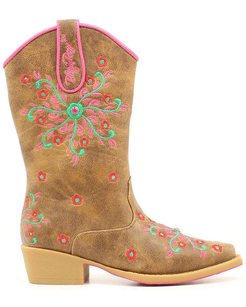 Blazin Roxx Children's Savvy Embroidered Cowgirl Boots - Snip Toe, Brown, hi-res