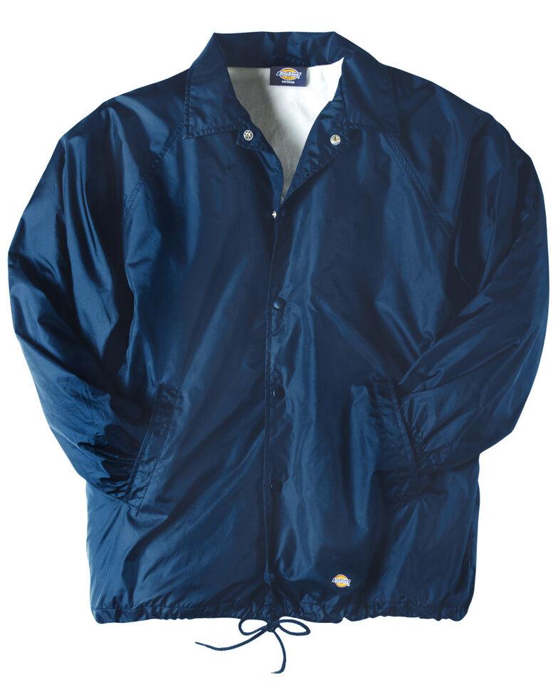 Dickies Men's Snap Front Nylon Work Jacket, Navy, hi-res