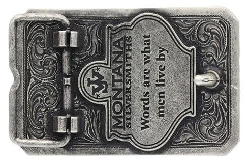 "Montana Silversmiths Two-Tone John Wayne ""The Duke"" Attitude Belt Buckle, Multi, hi-res"