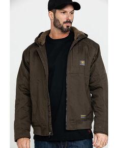 Ariat Men's Rebar Dura Canvas Zip-Front Work Jacket , Loden, hi-res